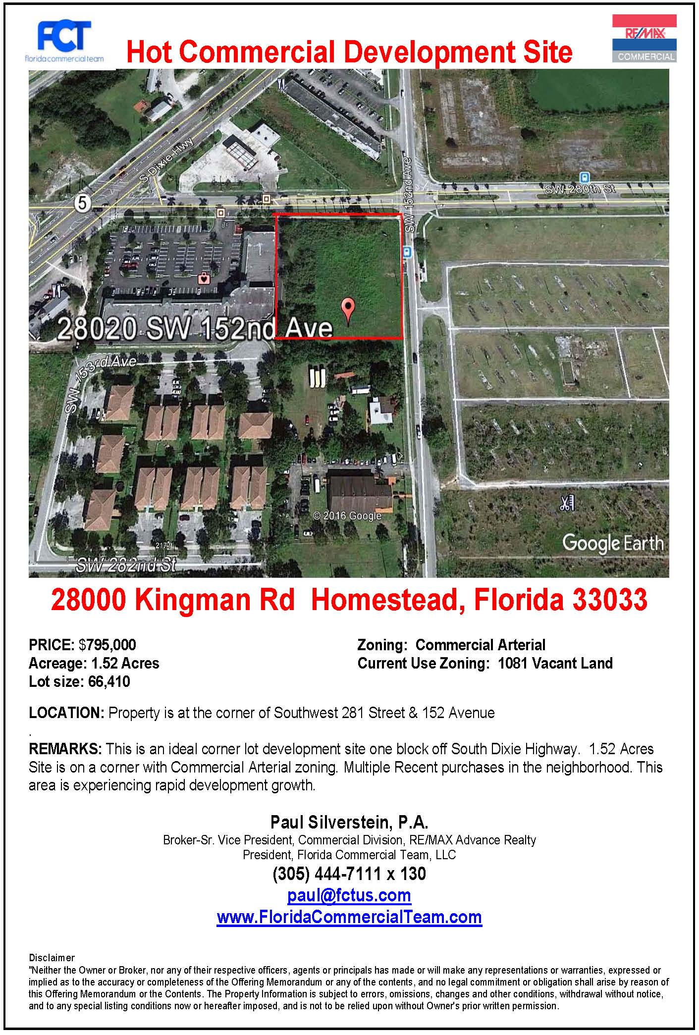 Miami Land for Sale,Development Site, Miami Development Site, Retail Site for Sale